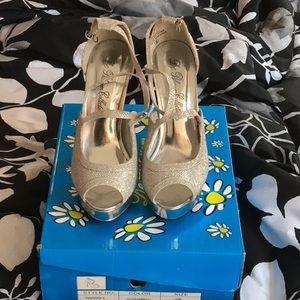 Shoes - Women's silver high heels